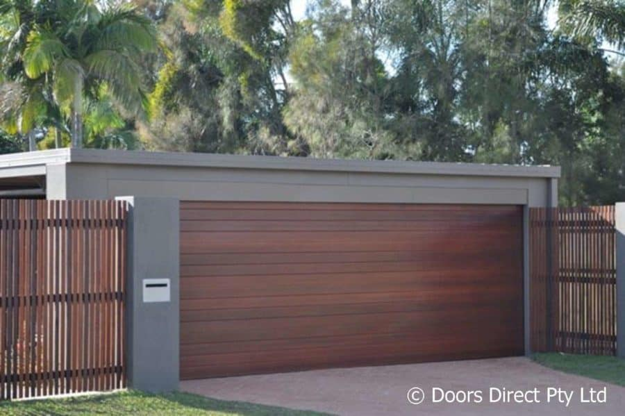 Seville Sectional - Timber Coat - Merbau colour 2 & The Garage Door Specialists™ - Doors Direct